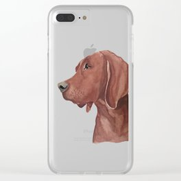 Watercolor dog Clear iPhone Case
