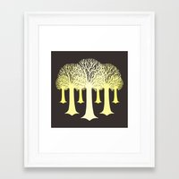 gondor Framed Art Prints featuring electricitrees by freshinkstain