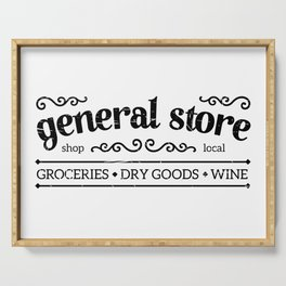 General Store Rustic Sign Serving Tray