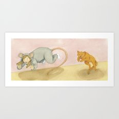 Let's play Cat and Mouse! Art Print