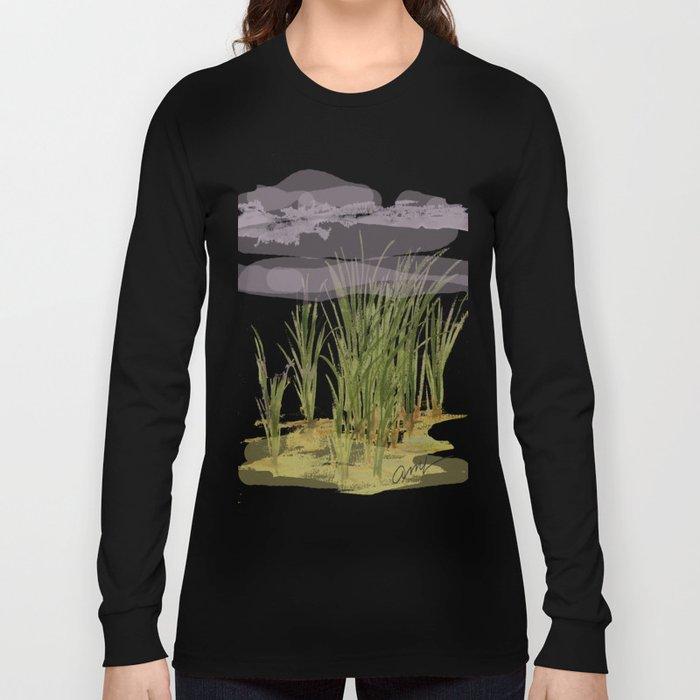 summer storm sea shore Long Sleeve T-shirt