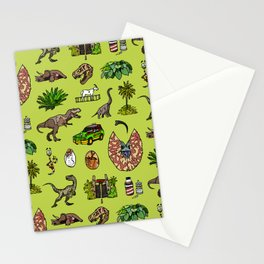 Jurassic pattern lighter Stationery Cards