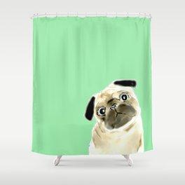 Pug Shower Curtain