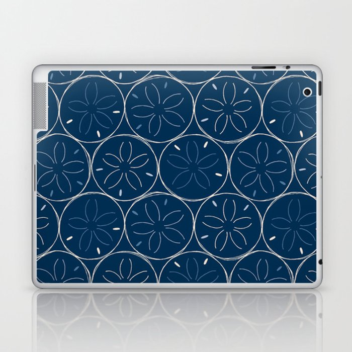 Sanddollar Pattern in Blue Laptop & iPad Skin