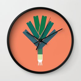 Vegetable: Leek Wall Clock