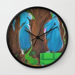 Comfy Couch. Abstract. Original Painting. Forest. Fantasy Forest. Fantasy. Jodilynpaintings. Wall Clock