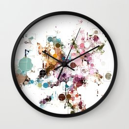 Decorative Subdued Pastel Pattern Abstract Wall Clock