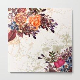 Vintage rose garden Metal Print