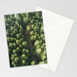 Green forest from above Stationery Cards