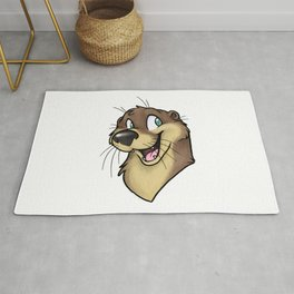 Shino Otter Happy Face Rug