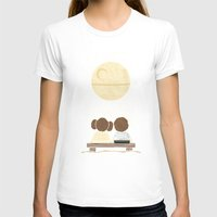 yetiland T-shirts featuring Moon Gazing by Teo Zirinis