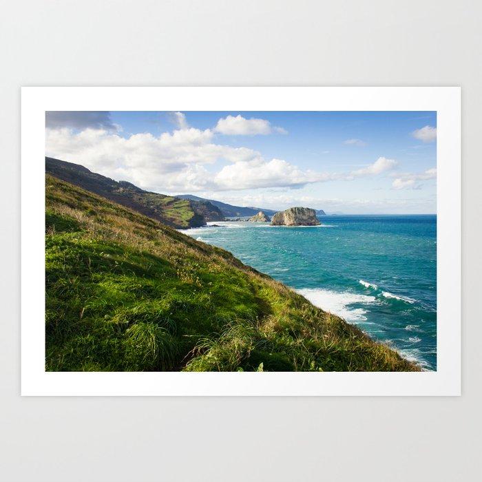 Basque Country coast landscape Art Print
