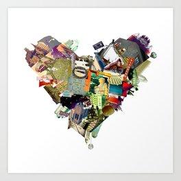 nebraska heart Art Print