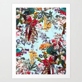Floral and Birds XXXIV Art Print