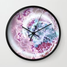 Fractal Whimsy Wall Clock