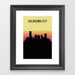 Oklahoma City Skyline Framed Art Print
