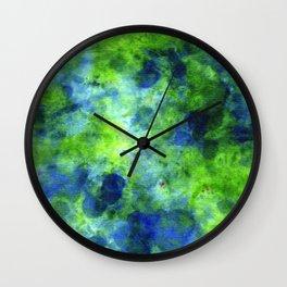 Lagoon DyeBlot Wall Clock