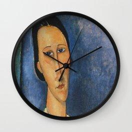 Modigliani portrait art Wall Clock