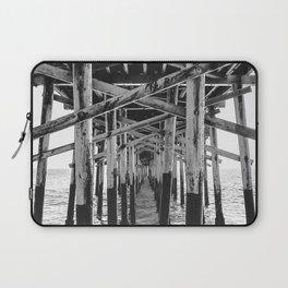 Balboa Pier Print {3 of 3} | Newport Beach Ocean Photography B&W Summer Sun Wave Art Laptop Sleeve