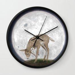Night Deer Wall Clock