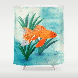 The Goldfish Shower Curtain