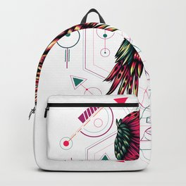 The mythical Owl sacred geometry Backpack