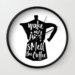 Coffee Art, Coffee Printable, Coffee Print, Digital Print, Kitchen Art, Coffee Art Print, Coffee Quo Wall Clock