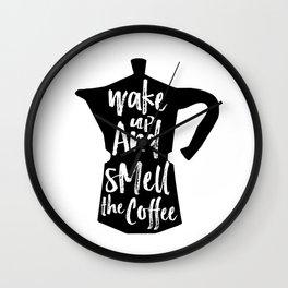 Coffee Art, Coffee Printable, Coffee Print, Digital Print, Kitchen Art, Coffee Art Print, Coffee Quo Wall Clock