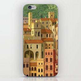 Medieval city iPhone Skin