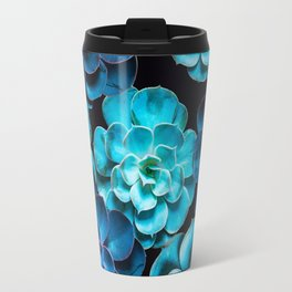 Succulent Plants In Blue And Turquoise Color #decor #society6 #homedecor Travel Mug