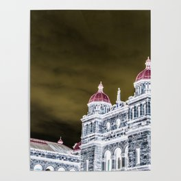 inverted parliment building Poster