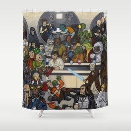The Mos Eisley Cantina Shower Curtain
