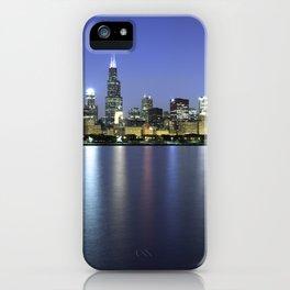 Chicago Skyline Dusk Panorama iPhone Case