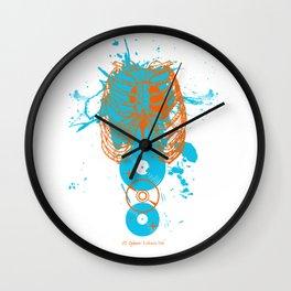 Cold Blue Splatter Wall Clock