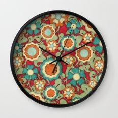 Autumn Floral Wall Clock