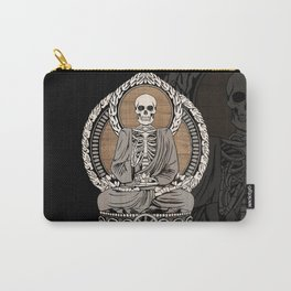 Starving Buddha - Wood Grain Carry-All Pouch