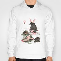 easter Hoodies featuring Crow Serie :: Easter Crow by Leslie Tychsem