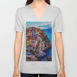 Italy, Cinque Terre Unisex V-Neck