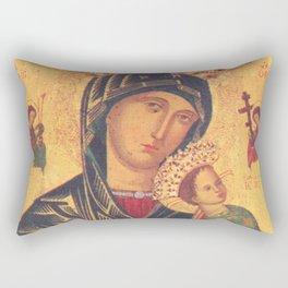 Mother of Perpetual Help by Yuriy Hrechyn Prayer Card Rectangular Pillow
