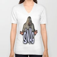 swag V-neck T-shirts featuring SWAG  by Robleedesigns