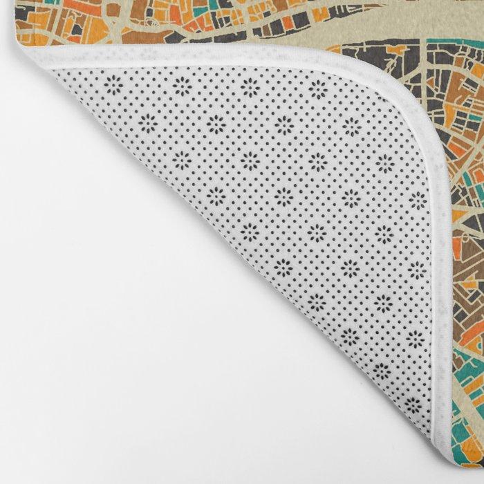 London Mosaic Map #3 Bath Mat