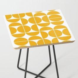 Mid Century Modern Geometric 04 Yellow Side Table