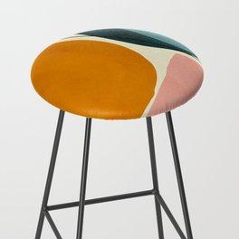 shapes geometric minimal painting abstract Bar Stool