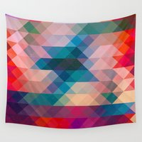 triangle Wall Tapestries featuring TRIANGLE by Hands in the Sky