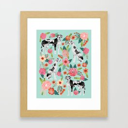 Great Dane cute gift for dog lover with unique dog breed great dane pet portrait Framed Art Print
