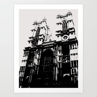 Westminster Abbey - London Series Art Print