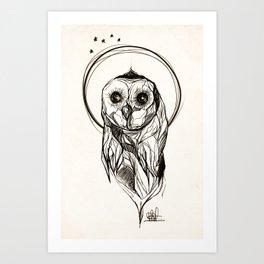 Rough Owl Art Print