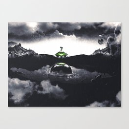 The Landing A Zebes Surrealism Canvas Print