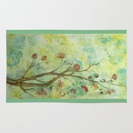 Branch with flowers Rug