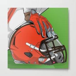 Cleveland football Metal Print